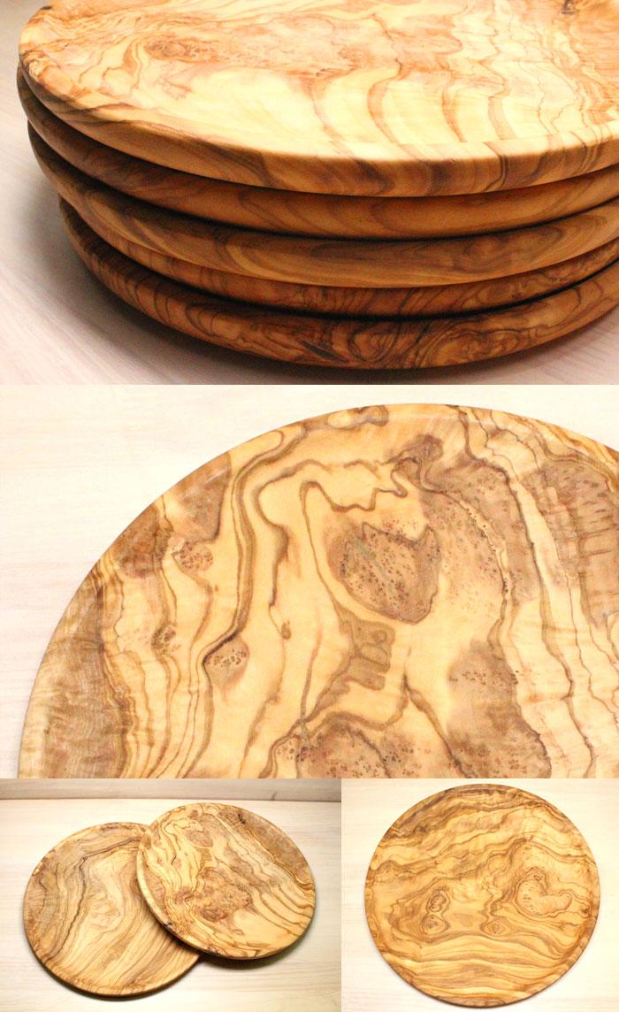 ジェネラルオリーブウッド丸皿