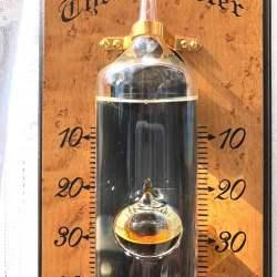 コントラ温度計壁掛け式 壁板茶