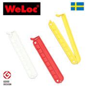 ウェーロック クリップイットPA110mm 3個セット 白赤黄 スウェーデン製 CLIP-it(クロージャー、キッチンクリップ、袋止め)