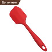 ユーロキッチン 一体型シリコンスパチュラ フィン型 中 赤
